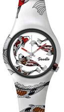 DOODLE WATCH ░ Armbanduhr für SIE& IHN Ø 39mm   Silikonband > KOI KARP   DOAR001