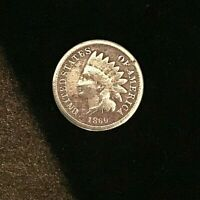 1860 US One Cent Indian Head coin