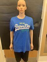 Superdry Blue Short Sleeve Blue T Shirt - UK Men's Size L