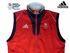 ADIDAS TEAM GB 2016 RIO OLYMPICS UNISEX ELITE ATHLETE RED VEST GILET Size 38/40