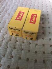 2 Vintage 1961 NOS Kodak Kodacolor Film C120 Rolls