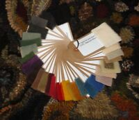 WOOL DYE BOOK & SWATCHES ~ PRIMITIVE RUG HOOKING