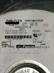 Pancon 156F18V15 18/15C Pan-Flex Tinned Cu Flat Ribbon Cable 105C/300V Gray/5ft