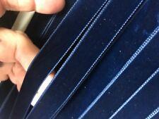 """VINTAGE 5/8"""" VELVET ribbon SWISS 3 yds NAVY BLUE"""