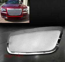 11-14 CHRYSLER 300/300C FRONT UPPER STAINLESS STEEL MESH GRILLE GRILL CHROME 1PC