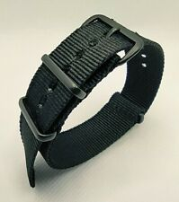 18 mm Nato Strap Correa Reloj Nylon Watch band negro black Nero noire negre