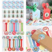 120pcs Christmas Sticker Elk Christmas Tree Deer Star Design Paper Label Baking*