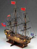 "Elegant, intricately detailed Corel wooden model ship kit: the ""HMS Greyhound"""