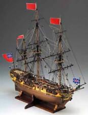 "Elegant, intricately detailed Corel wooden model ship kit: the ""HMS Greyhound"""