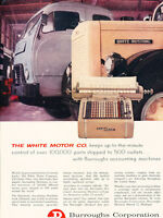 1958 Burroughs Accounting Machine -  Vintage Advertisement Print Ad J467