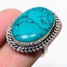 Santa Rosa Turquoise Gemstone Handmade Jewelry Ring  US Size FS 1969