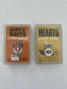 VTG NOS Sealed Crazy Eights Hearts Card Games Western Publishing Whitman 4905/09