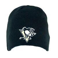 Pittsburgh Penguins Hockey Reebok Black Beanie Cap Hat