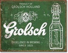 Grolsch Beer Holland Since 1615 Imported Metal Sign Tin New Vintage Style #2079