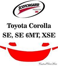 3M Scotchgard Paint Protection Film Clear Kit 2020 2021 Toyota Corolla SE XSE