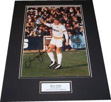 Mick Jones - Leeds United Signed Photo Mounted 1974 Champions - PROOF