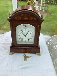 Rosewood Lenzkirch antique clock Ting Tang Movement Striking the ½and full hour