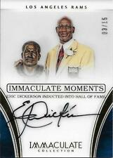 ERIC DICKERSON SIGNED 2016 PANINI  IMMACULATE MOMENTS~3/15~FOOTBALL HOF AUTO