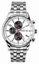 Sekonda Mens White Dial Silver Stainless Steel Bracelet Watch 1155 RRP £79.99