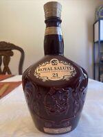 Royal Salute Blended Scotch Whisky Empty Bottle 21 Years Old Porcelain Revol.