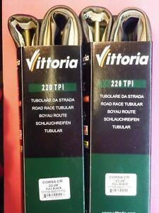 Two - Vittoria Corsa CR 22 mm  Tubulars tyres - NOS