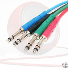 REAN NRA-TT Bantam Jack Patch Leads. Short 4.4mm TT Moulded Cables. 1 ft 2 ft +