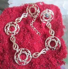 925 Silber Unendlichkeit Rad Damen Armband  19 mm breit 19+ cm Länge Boho Trend