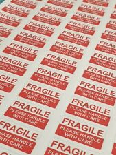 5 SHEETS FRAGILE HANDLE WITH CARE STICKY ADHESIVE LABELS 325 LABELS
