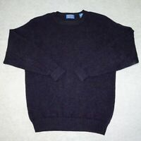 VTG Pendleton Mens Large Navy Shetland Virgin Wool Long Sleeve Pullover Sweater