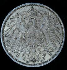 Germany 1 Mark 1907 D UNC/BU German Empire Silver Lots Of Mint Luster