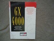 Notice manuel console AMSTRAD GX 4000 gx4000 français anglais etc