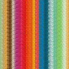 NORO ::Taiyo #102:: cotton silk wool yarn Orange-Fuchsia-Greens-Blue-Gold-Nut