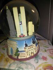 "Vintage 1998 York City Twin Towers Snow Globe Piece Broken ""WORKS"