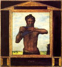 Franz di stucco 28 PAN PIASTRA 50x54 motori detenzione libidinoso mezza Dio natura metà animale
