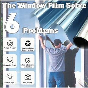 One Way Mirror Window Film Reflective Home Privacy Solar Tint Foil Glass Sticker