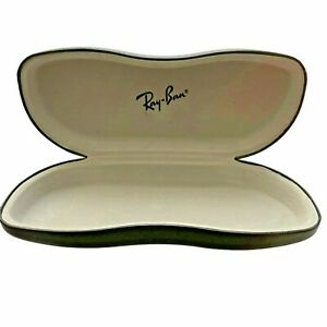 Ray Ban Eyeglasses Sunglasses Case BLACK HARD Cover Pouch Hinged Felt Lined