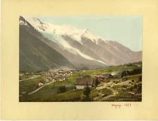 MontBlanc et Chamonix. vintage photochromie, photochromie, vintage photochrome