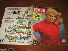 RIVISTA TEMPO 1956/29=VIRNA LISI=MARILYN MONROE FILM BUS STOP=SCI D'ACQUA=