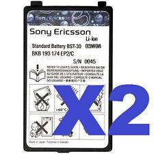 2 FOR 1 Sony Ericsson OEM BST-30 Cell Battery for K500 K700 T226 T237 Z200 Z500