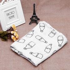 100% Cotton Swaddle Towel Baby Swaddling Blanket Soft Muslin Newborn Infant