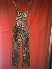 Combinaison vintage léopard très chic C003 Jumpsuit