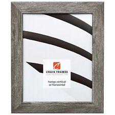 """Craig Frames Gray Barnwood Picture Frames & Poster Frames, 1.25"""" Wide, Modern"""