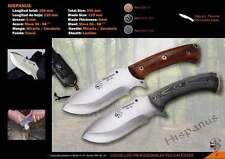 J&V Adventure Knives Hispanus Knife Cocobolo Wood with Sheath Hand Made in Spain