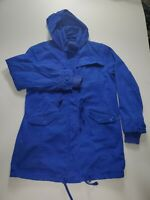 AMERICAN EAGLE Denim Jacket Hooded Mens Size Large Royal Blue Full Zip