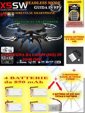DRONE QUADRICOTTERO RADIOCOMANDATO  Syma X5SW Wifi FPV HEADLESS  su smartphone