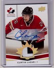 CURTIS LAZAR 14/15 Upper Deck Team Canada Juniors Auto Autograph Patch Rookie