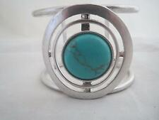 Kenneth Cole silver tone turquoise stone cuff bracelet, NWT