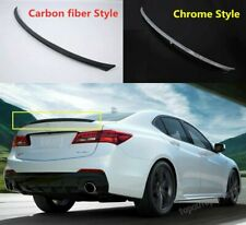 Fit ABS 2015- 2018 Acura TLX Rear Tail Trunk Spoiler Wing Lip Trim 2 style Good