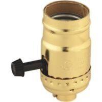 Leviton Turn-Knob Medium Base Brass Lamp Socket