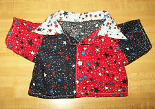 "4TH JULY RED/WHITE/BLUE STAR STARS SHIRT W/BUTTONS for 16-17"" CPK Cabbage Patch"